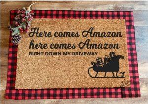 diy holiday doormats